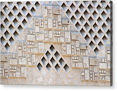 Closeup Of Federal Courthouse Roswell Acrylic Print