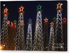 Closeup Of Kilgore Texas Derricks Acrylic Print by Kathy  White