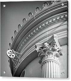 Closeup Of Lighthouse  -58750 Acrylic Print by John Bald