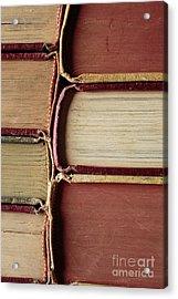 Closeup Of Old Books Acrylic Print
