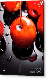 Closeup Of Red Candy Apple On Stick Acrylic Print by Jorgo Photography - Wall Art Gallery