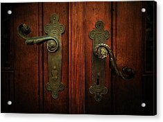 Closeup Of Two Ornamented Handles Acrylic Print