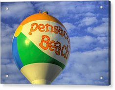 Closeup On The Pensacola Beach Beach Ball Acrylic Print by JC Findley