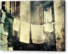 Clothes Hanging Acrylic Print by Vittorio Chiampan