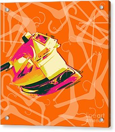 Clothes Iron Pop Art Acrylic Print