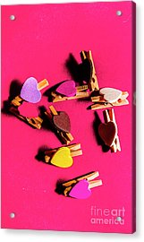 Clothespin Lovers Acrylic Print