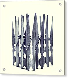 Clothespin Acrylic Print