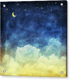 Cloud And Sky At Night Acrylic Print