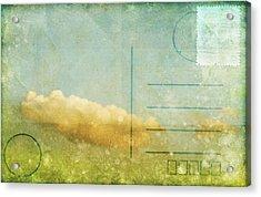 Cloud And Sky On Postcard Acrylic Print