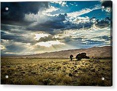 Cloud Break Over Sand Dunes Acrylic Print