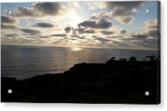 Cloud Break Sunset At  State Natural Reserve In San Diego Acrylic Print