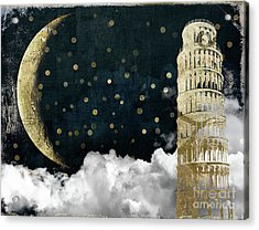 Cloud Cities Pisa Italy Acrylic Print by Mindy Sommers