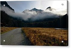 Acrylic Print featuring the photograph Cloud Clad Caples by Odille Esmonde-Morgan