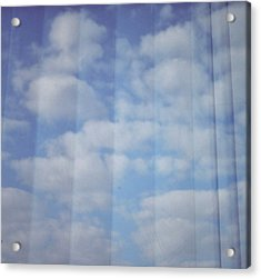 Cloud Curtain Acrylic Print by Julia Walsh