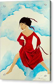 Cloud Dancing Of The Sky Warrior Acrylic Print by Jean Fry