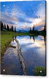 Cloud Explosion Acrylic Print by Mike  Dawson