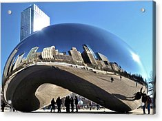 Acrylic Print featuring the photograph Cloud Gate In The Sun by Sheryl Thomas