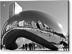 Acrylic Print featuring the photograph Cloud Gate by Sheryl Thomas