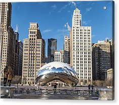 Cloud Gate To Chicago Acrylic Print