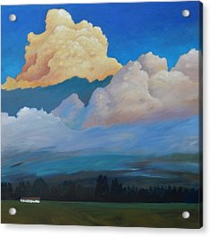Acrylic Print featuring the painting Cloud On The Rise by Gary Coleman