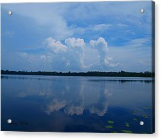 Cloud Reflections Acrylic Print by Judy  Waller