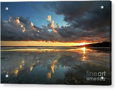 Cloud Reflections Acrylic Print by Rick Mann