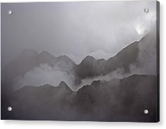 Cloud Shrouded Machu Picchu Acrylic Print by Michael Melford
