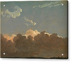 Acrylic Print featuring the painting Cloud Study. Distant Storm by Simon Denis