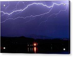 Cloud To Cloud Horizontal Lightning Acrylic Print by James BO  Insogna