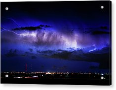 Cloud To Cloud Lightning Boulder County Colorado Acrylic Print by James BO  Insogna