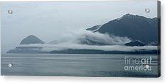 Cloud-wreathed Coastline Inside Passage Alaska Acrylic Print
