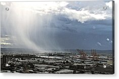 Acrylic Print featuring the photograph Cloudburst - Tacoma by Sean Griffin