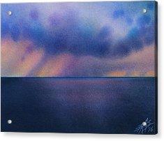 Cloudburst At Sea Acrylic Print by Robin Street-Morris