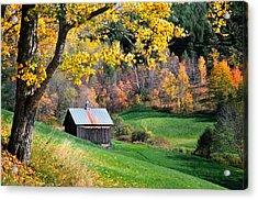 Cloudland Rustic Barn - Pomfret Vermont Acrylic Print