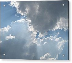 Clouds 1 Acrylic Print by Barbara Yearty