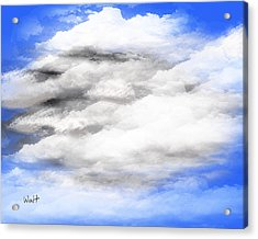 Acrylic Print featuring the digital art Clouds 2 by Walter Chamberlain