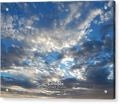 Clouds #4049 Acrylic Print by Barbara Tristan