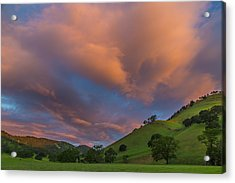 Clouds Above Round Valley At Sunrise Acrylic Print by Marc Crumpler