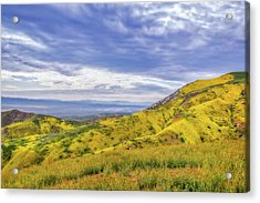 Acrylic Print featuring the photograph Clouds Above Temblor Range by Marc Crumpler