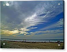 Acrylic Print featuring the photograph Clouds And Blue by Christopher Woods