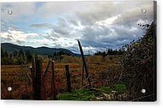 Acrylic Print featuring the photograph Clouds And Field by Chriss Pagani