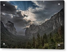 Clouds And Light Acrylic Print by Bill Roberts