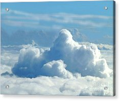 Acrylic Print featuring the digital art Clouds And Sky M2 by Francesca Mackenney