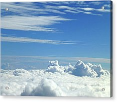 Acrylic Print featuring the photograph Clouds And Sky M4 by Francesca Mackenney
