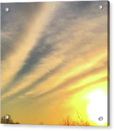 Clouds And Sun Acrylic Print