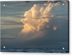 Clouds And Surf Acrylic Print