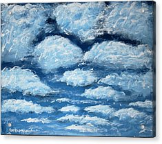 Acrylic Print featuring the painting Clouds by Antonio Romero