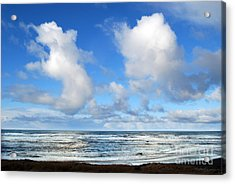 Acrylic Print featuring the photograph Clouds At Play by Larry Keahey