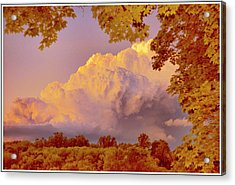 Clouds At Sunset, Southeastern Pennsylvania Acrylic Print