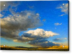 Clouds Acrylic Print by Betty LaRue